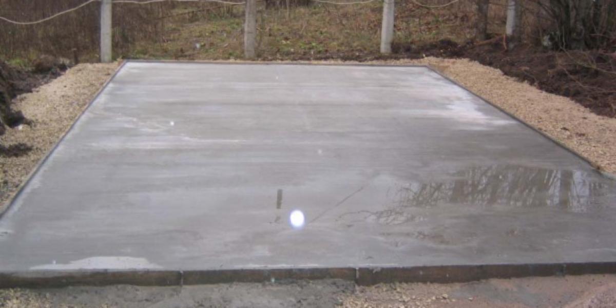 Монолитный фундамент для гаража