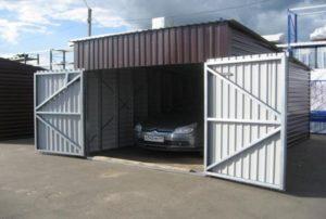 гараж из металлопрофиля