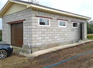 самостоятельно построить гараж из газобетона