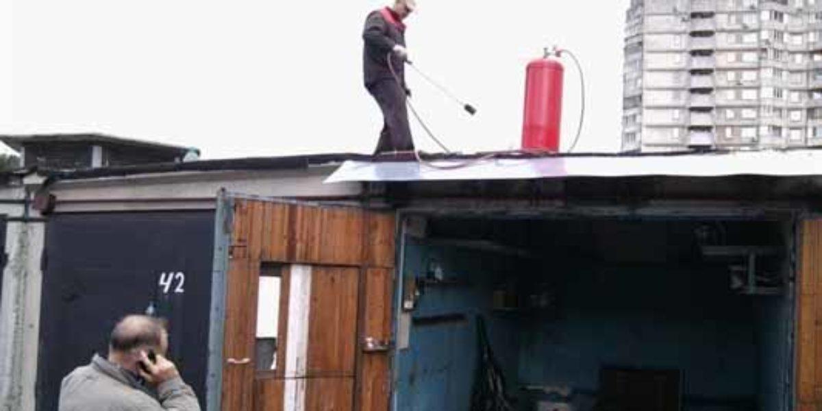 Перекрыть крышу гаража Унифлексом