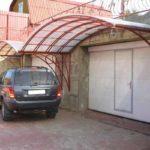 Установка козырька для гаража