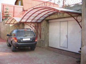 козырек для гаража