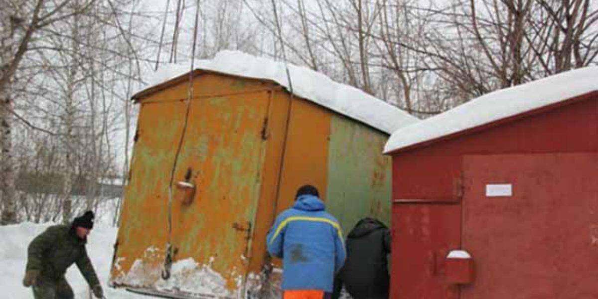 Снос 80 гаражей на улице Ташкентской