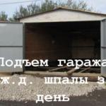 Подъем гаража на шпалы