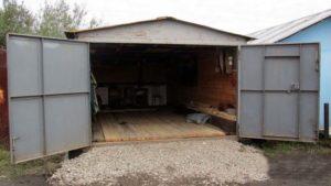 подсыпка пола в гараже